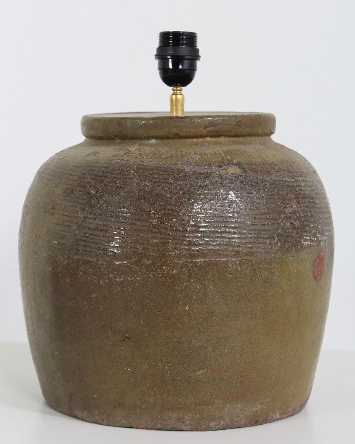 Antique Chinese Ceramic Water Pot Converted into Lamp