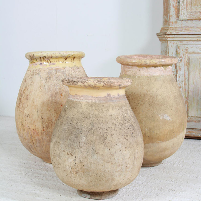 Collection Of Three  French 19thC Terracotta Biot Pots