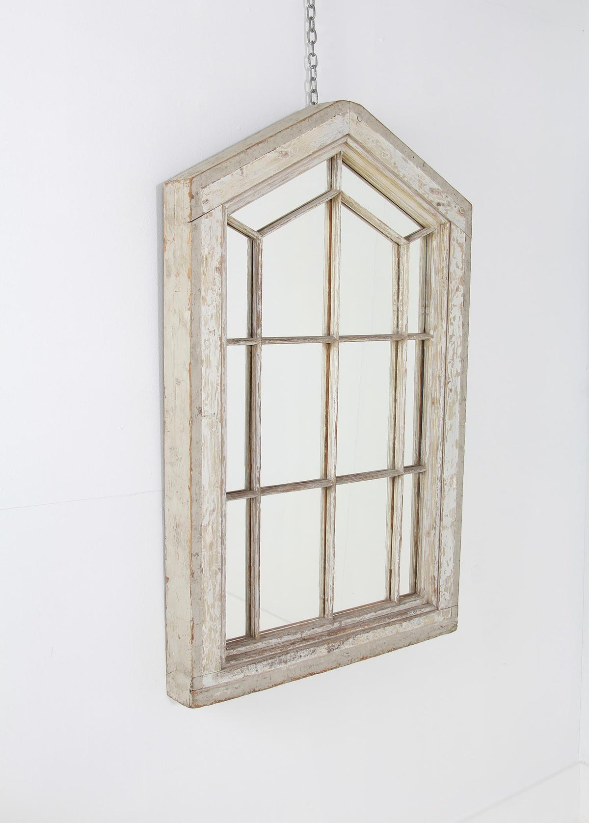 Impressive Architectural  Wooden Window  Mirror