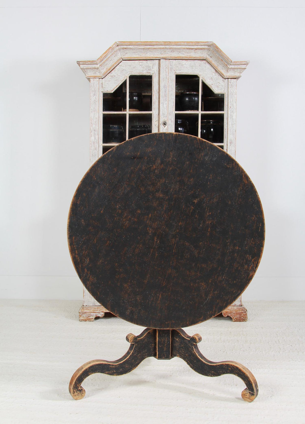 Large Swedish 19thC Tilt Top Table with Provenance