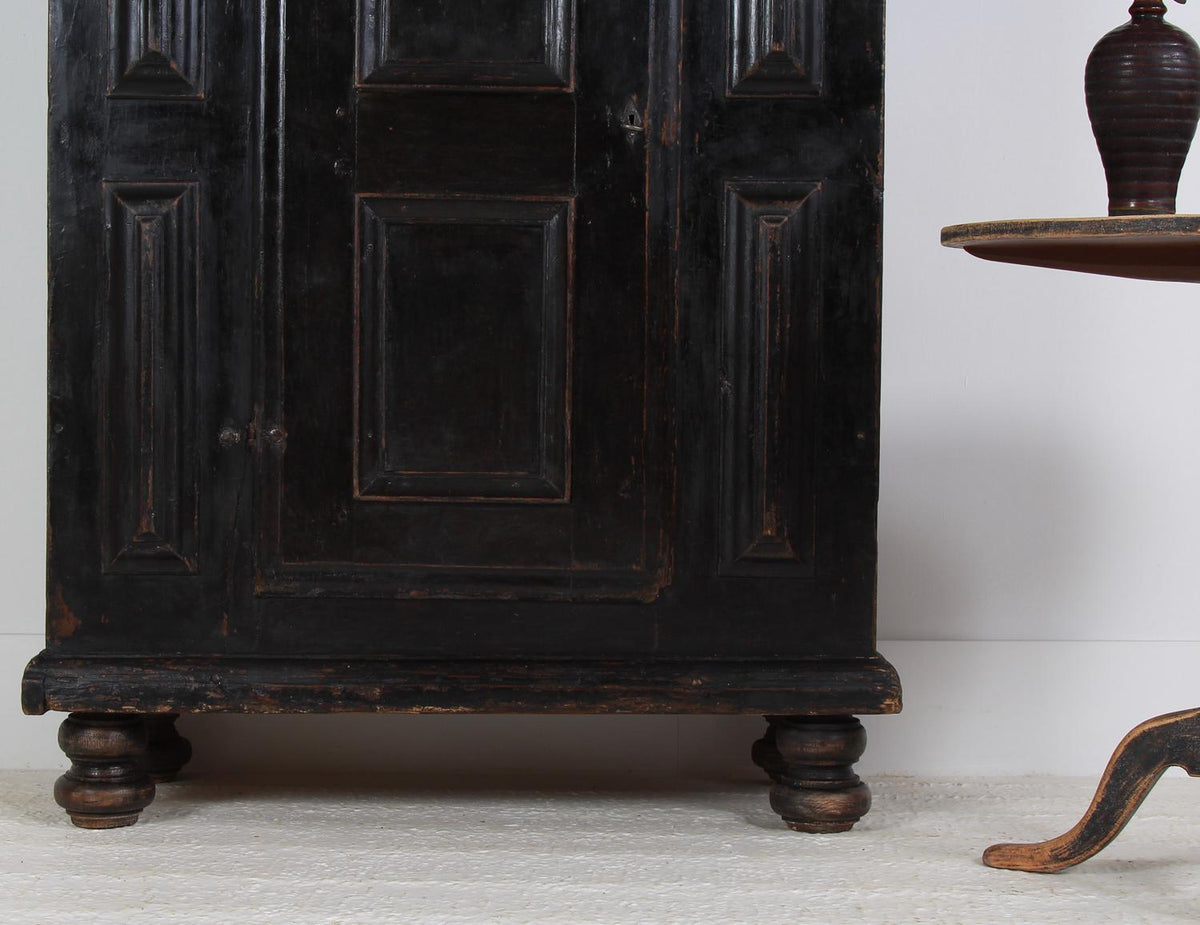 Handsome Swedish Period 18th Century Baroque Cabinet