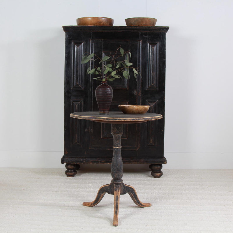 Charming Swedish 19th Tilt-Top Wine /Lamp Table