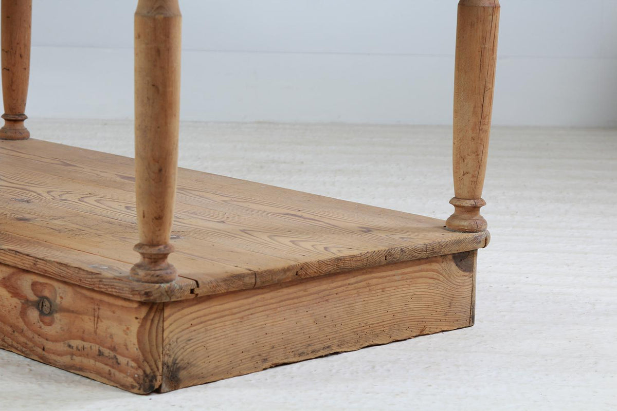 Original French 19thC  Drapers Table with Lower Shelf