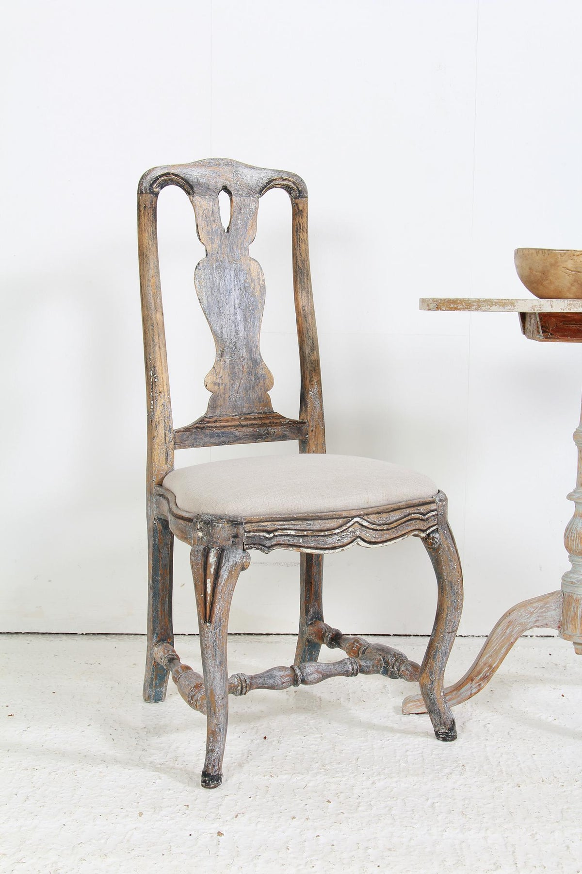 A Fine Single 18thC Swedish Baroque Chair
