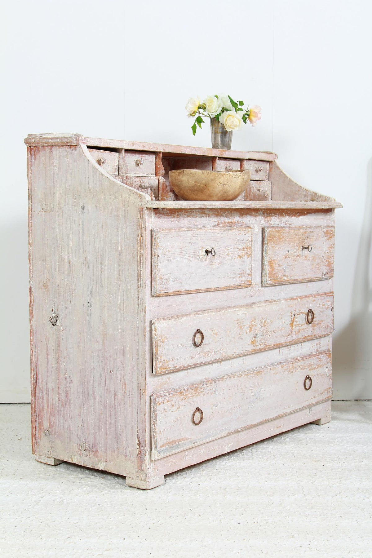 Swedish 19thC  Secretaire/Chest of Drawers