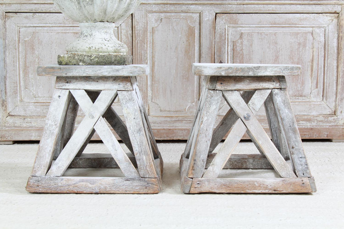 Rustic Italian Sculpture Stands