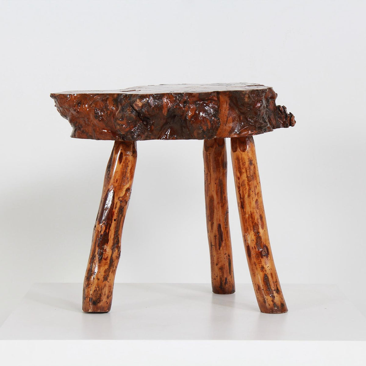 GNARLY PETRIFIED WOOD COFFEE/SIDE TABLE