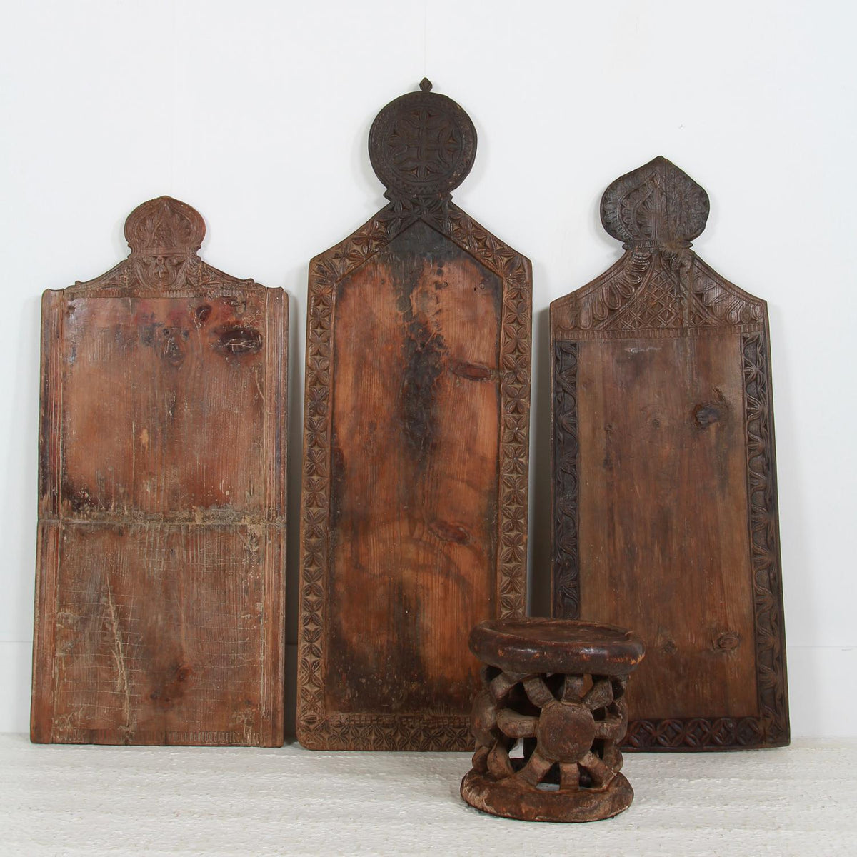 Rare Carved Decorative Wooden Prayer Wall Fragments