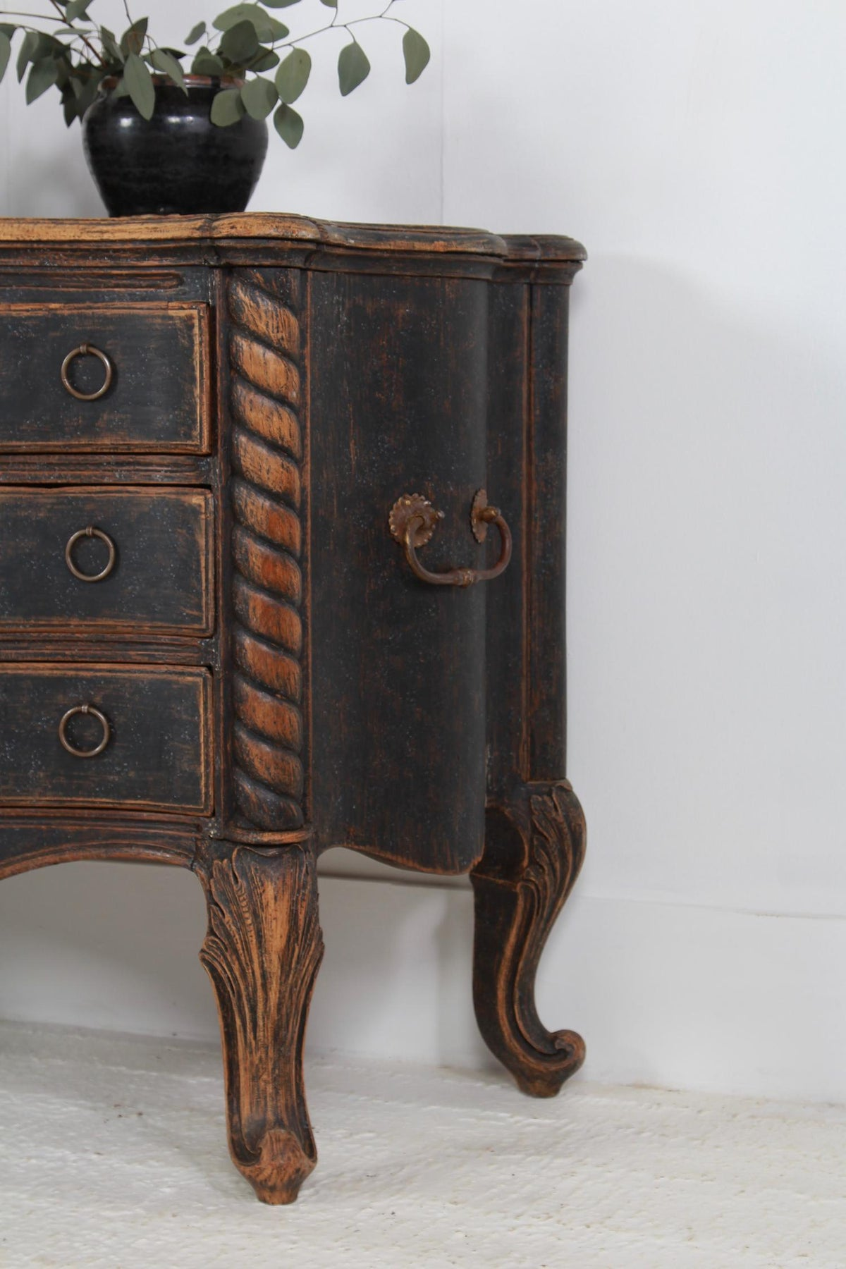 Exceptional Sculptural Period Danish  18thC Rococo Commode