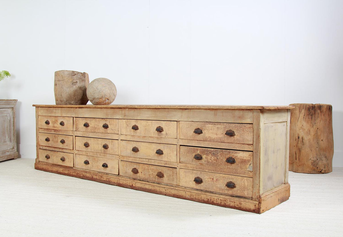 Grand Scale French 19thC Bank of Drawers