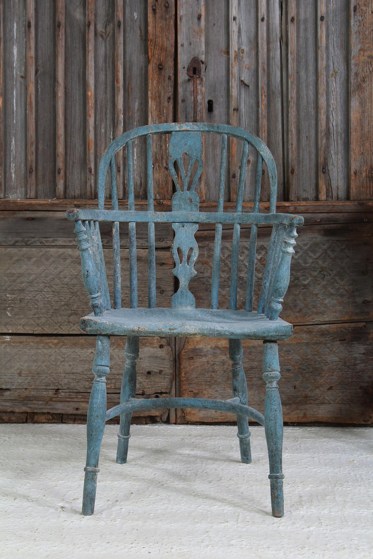 Antique Painted English 19thC Country Windsor Chair