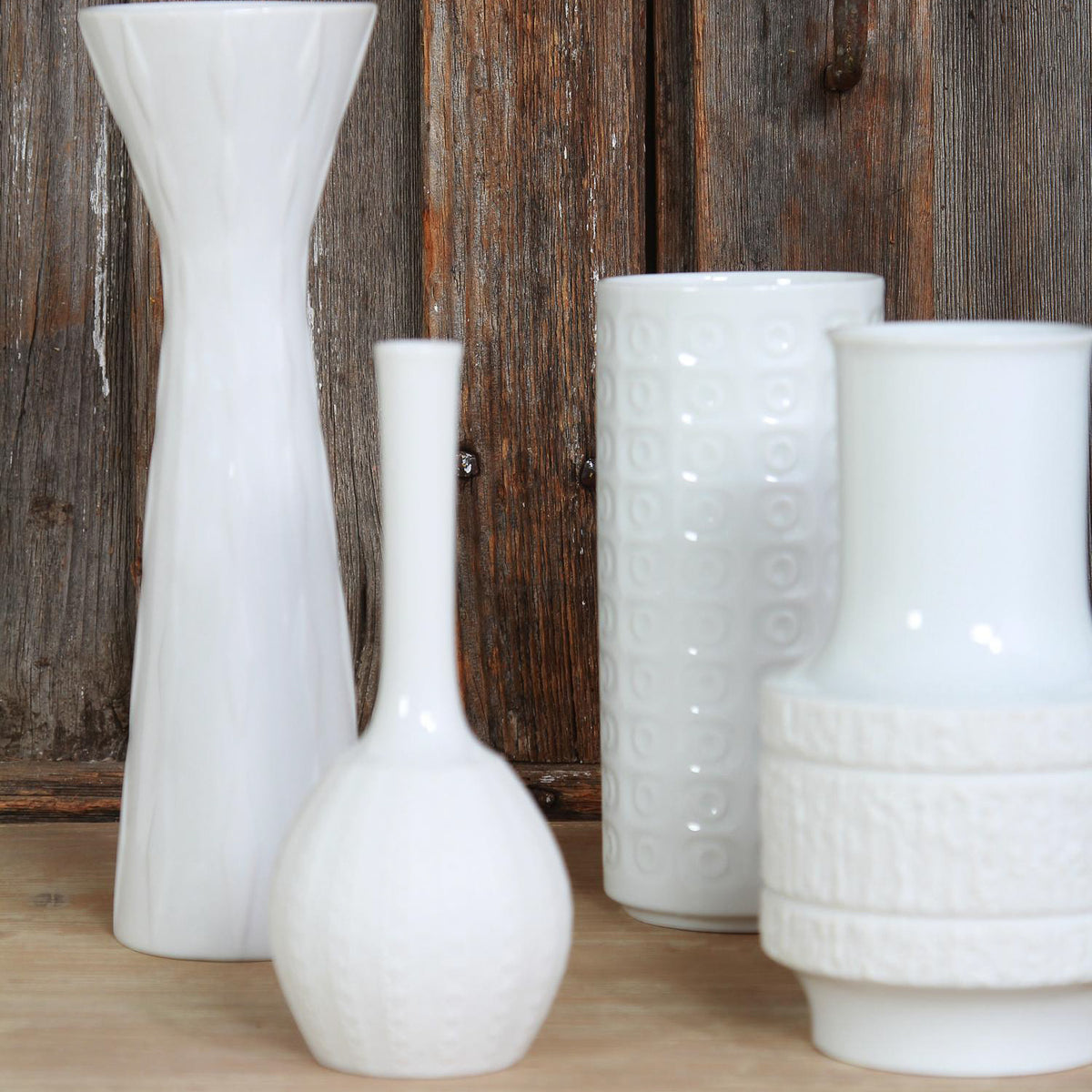 Collection of Mid Century Abstract Vases