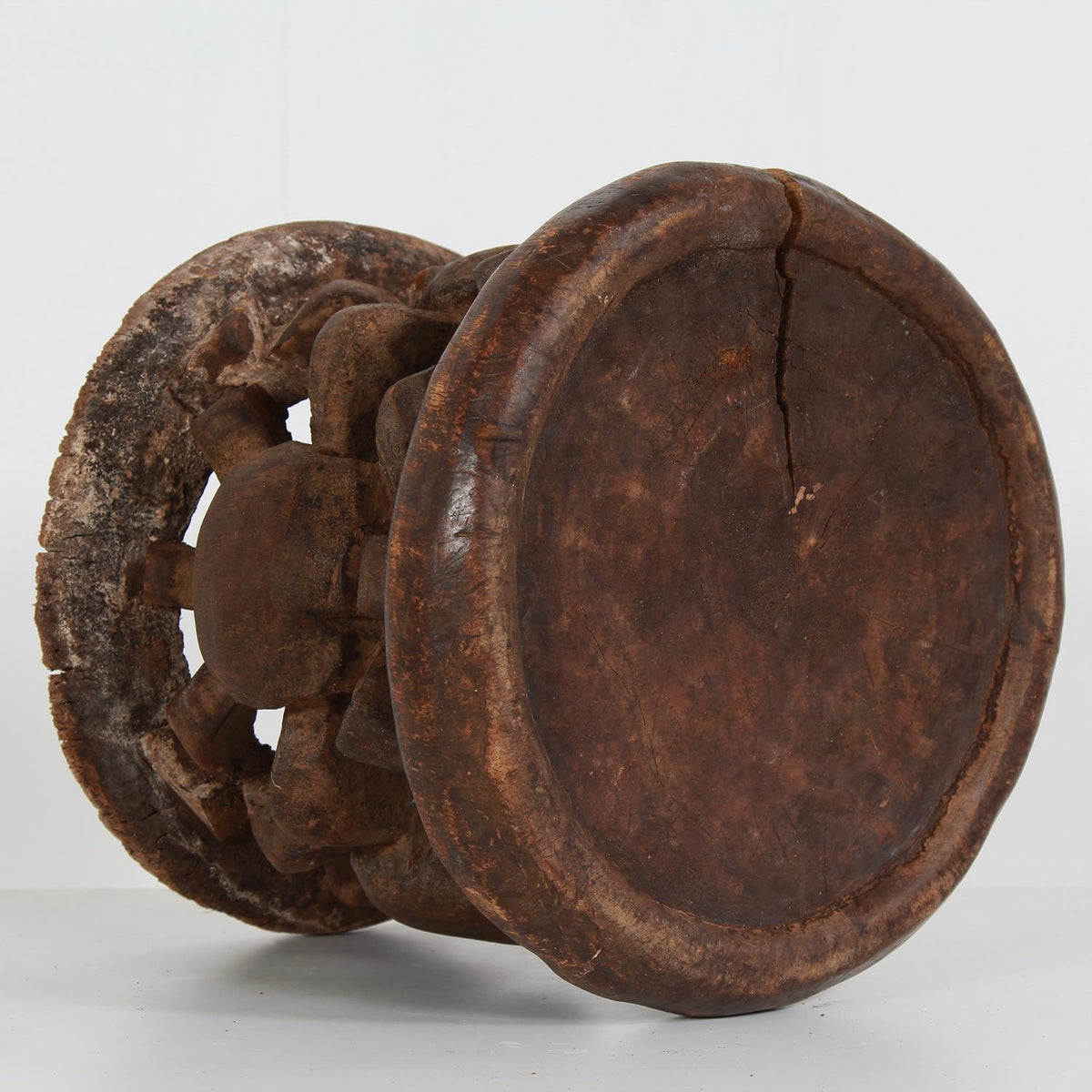 Tribal Carved Balimeke Cameroon Stool