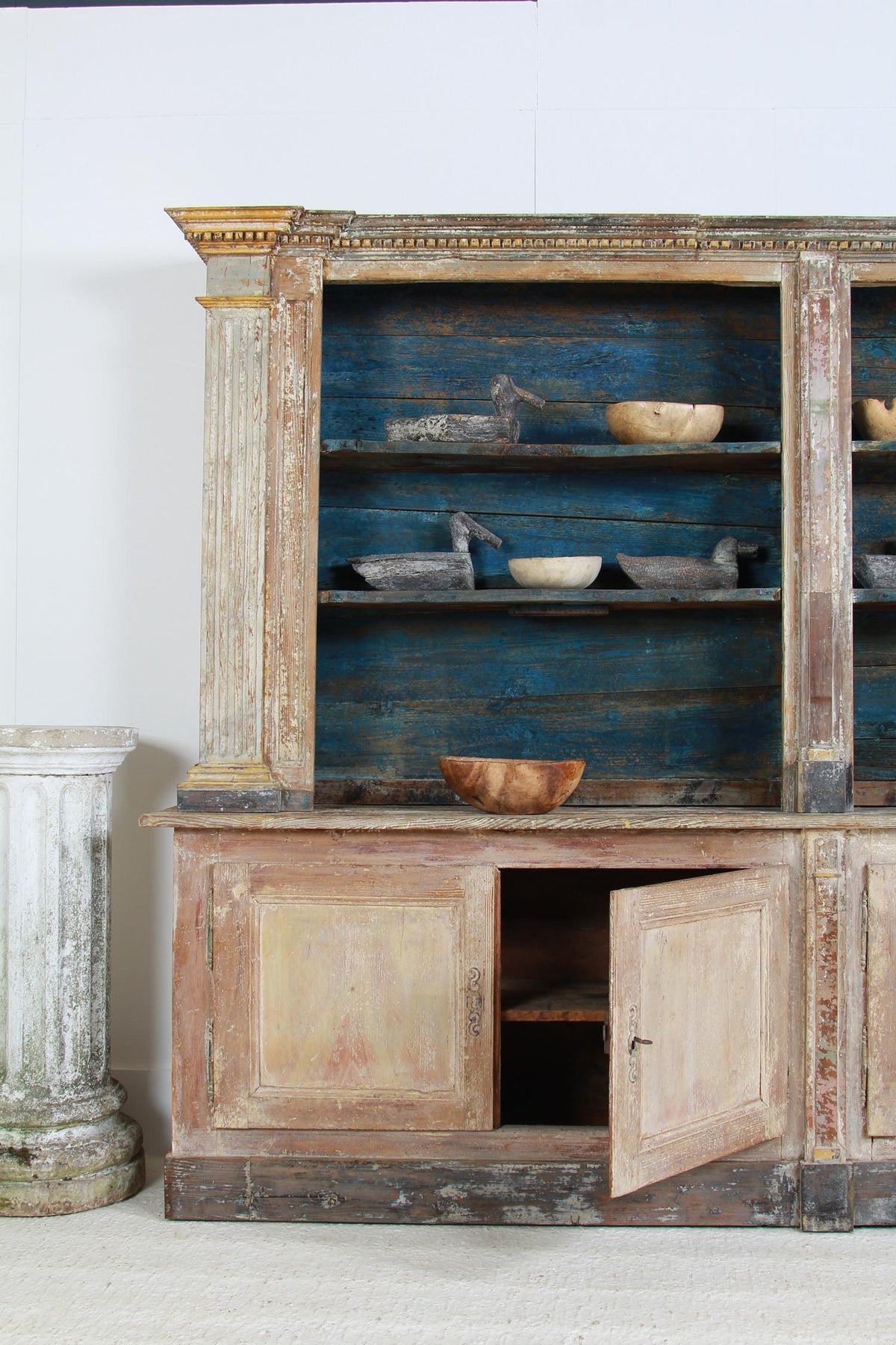 Magnificent French Architectural Pharmacy Cabinet