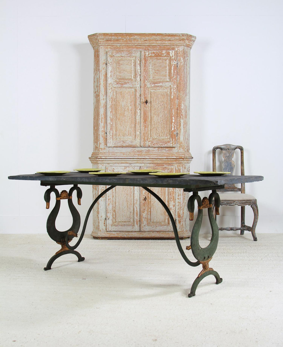 Elegant & Unique French Slate Top Table