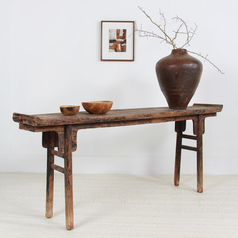 Antique Chinese 19thC Wabi-Sabi Console Table