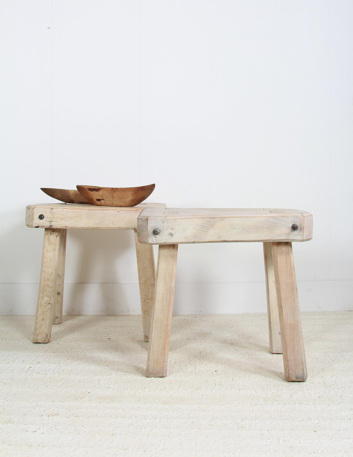 French Elm Chunky  Butchers Blocks Table