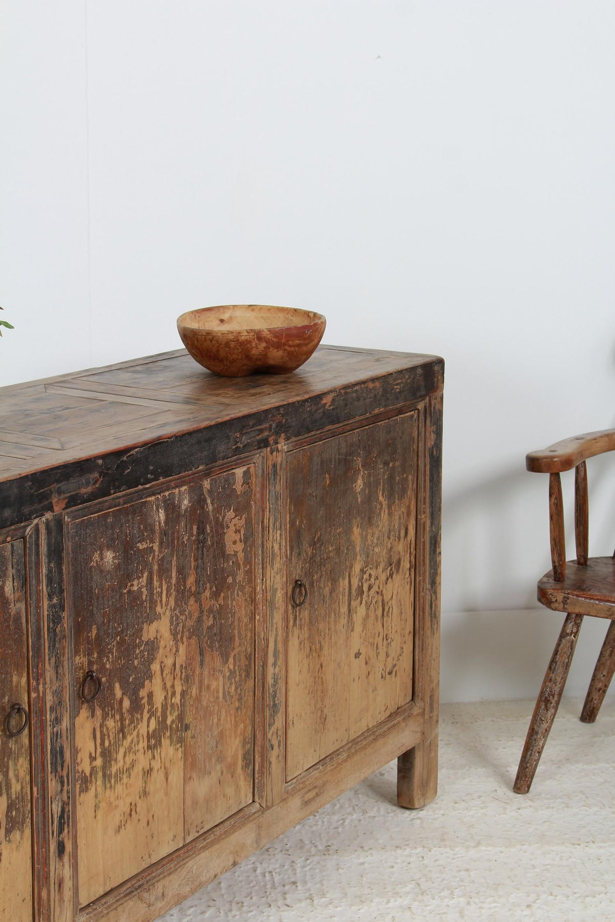 RUSTIC COUNTRY ELM PROVINCIAL SIDEBOARD