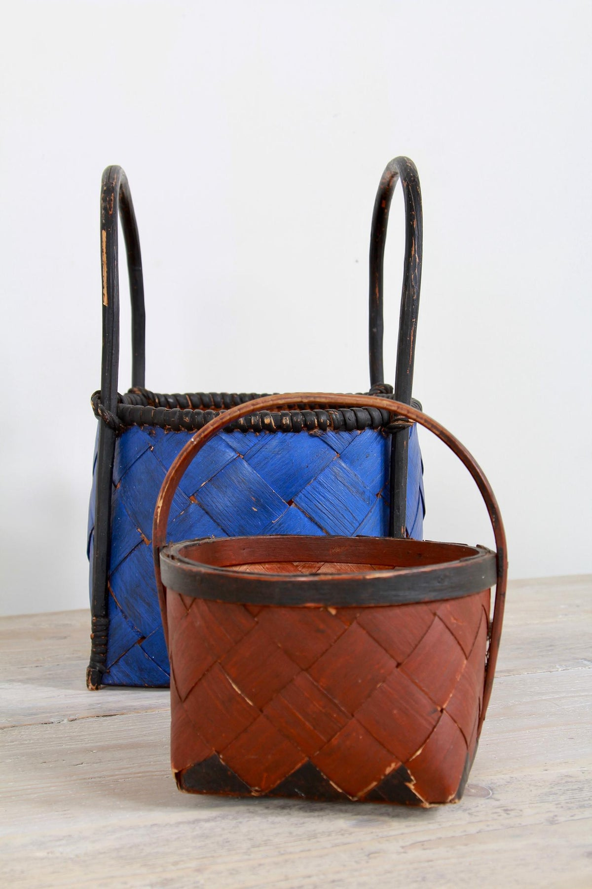 Swedish 19thC Splint Woven Berry Basket
