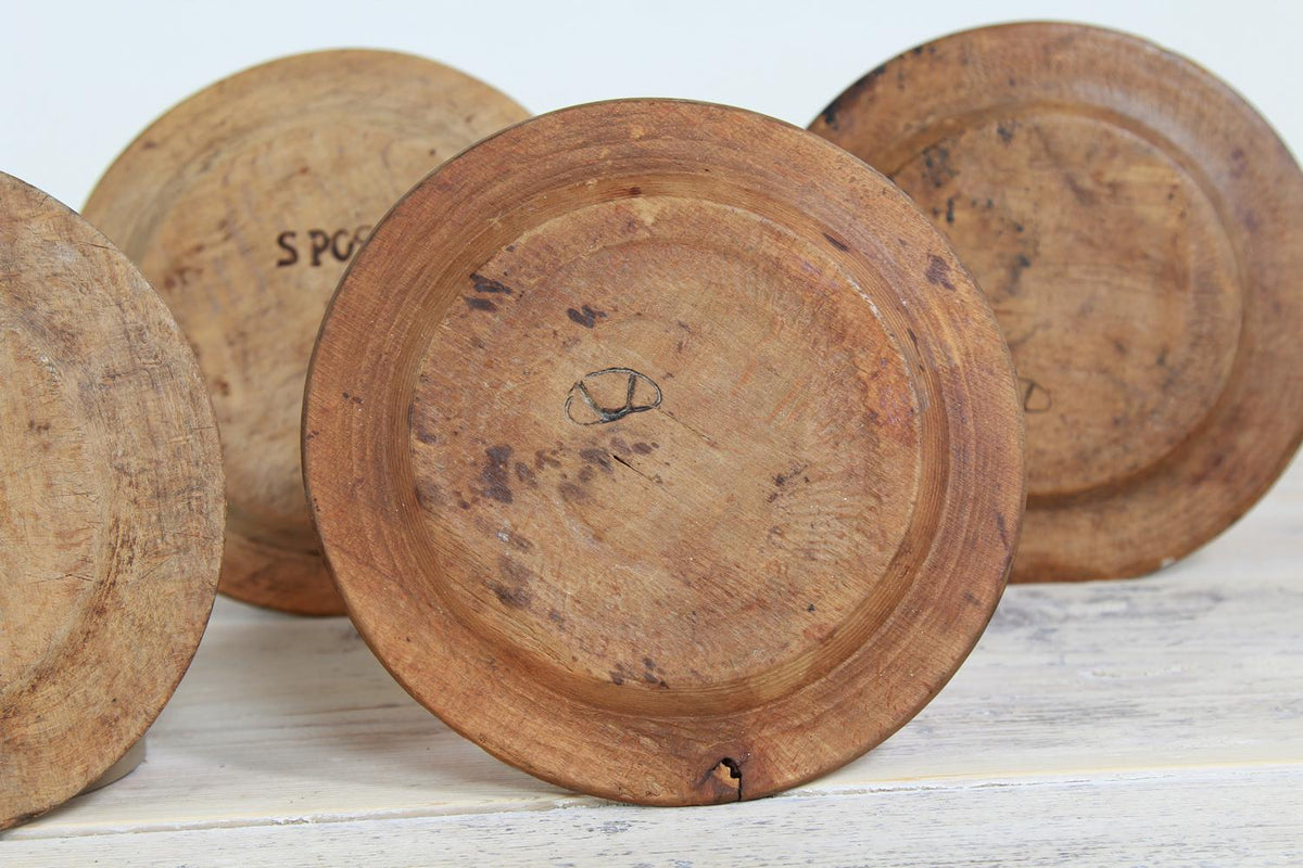 Collection Swedish 19thC  Folk Art  Birchwood Plates