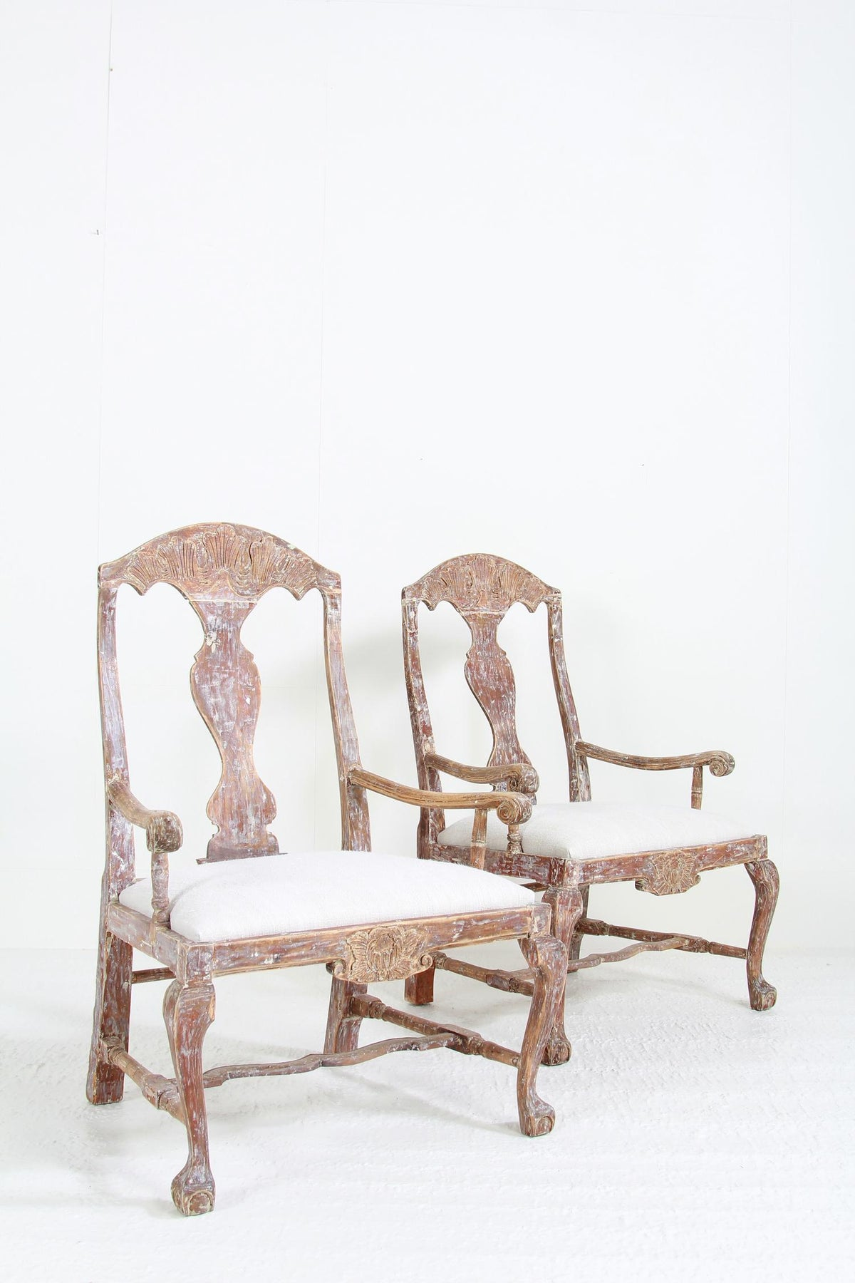 Pair of Swedish 18thC Baroque Armchairs