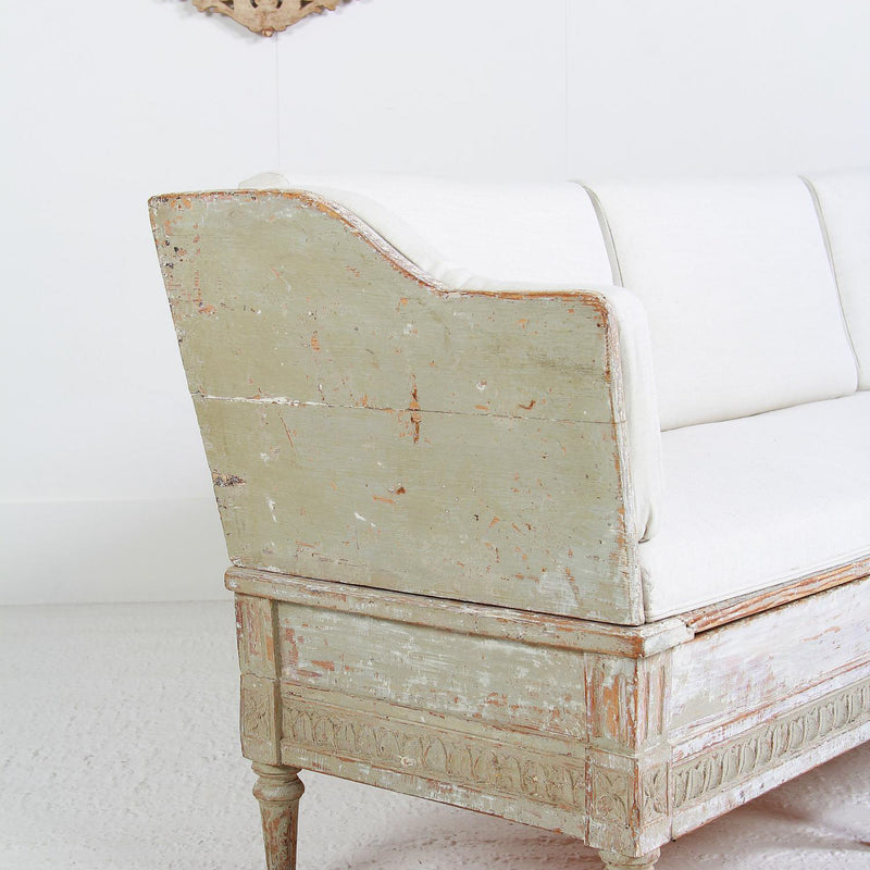 Antique Swedish Gustavian Period Trågsoffa