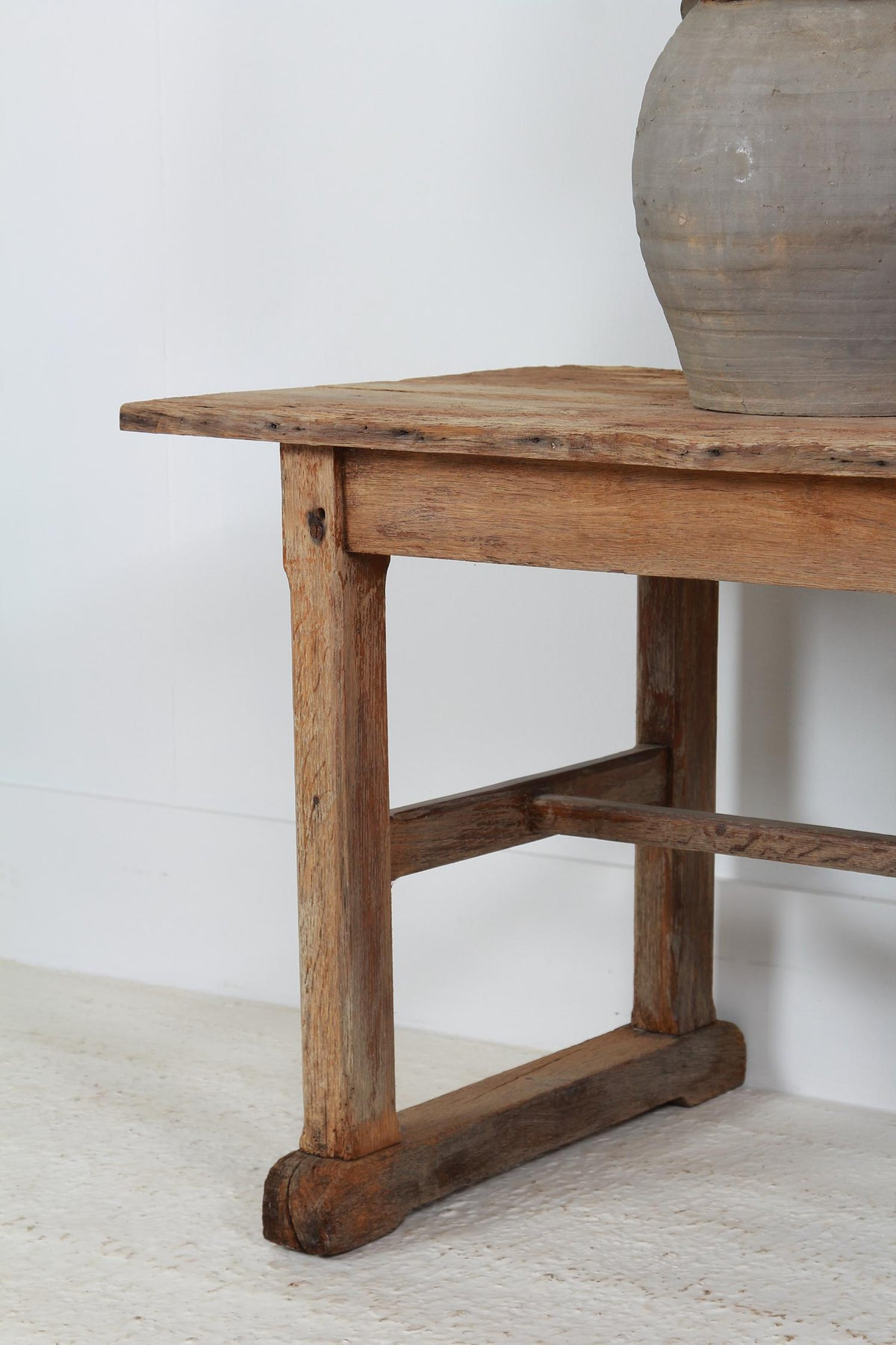 Rustic 19th Century Primitive Belgian Oak Console Table