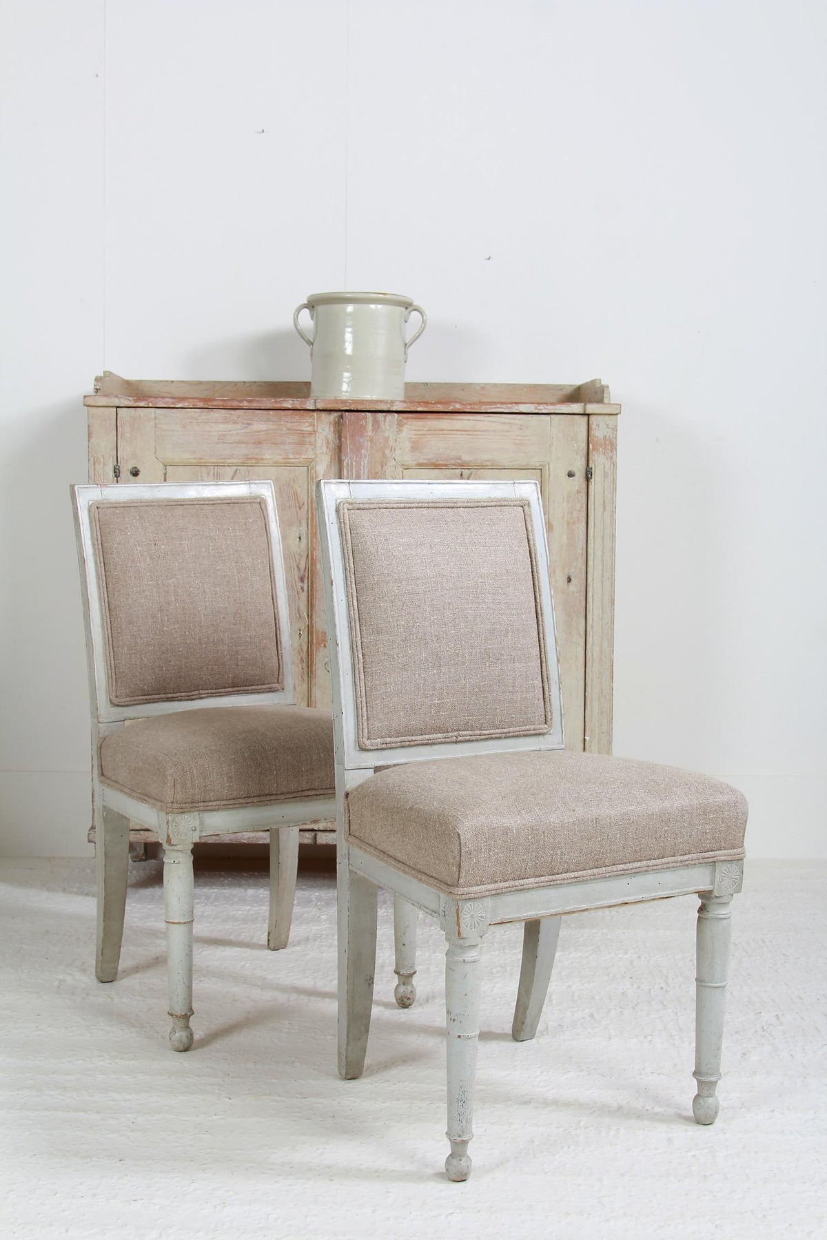 Pair of French 18thC Chateau Side/Hall Chairs