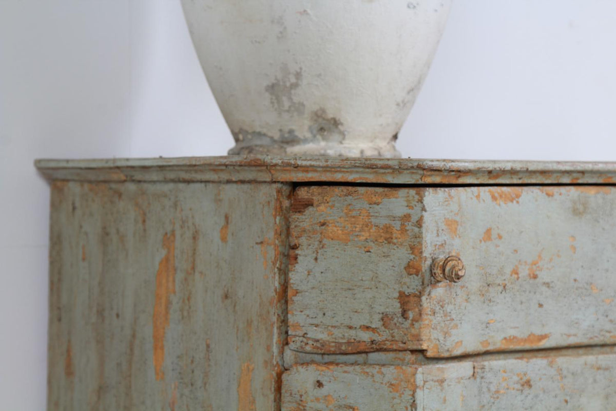 German Painted 18th Century Baroque Chest of Drawers