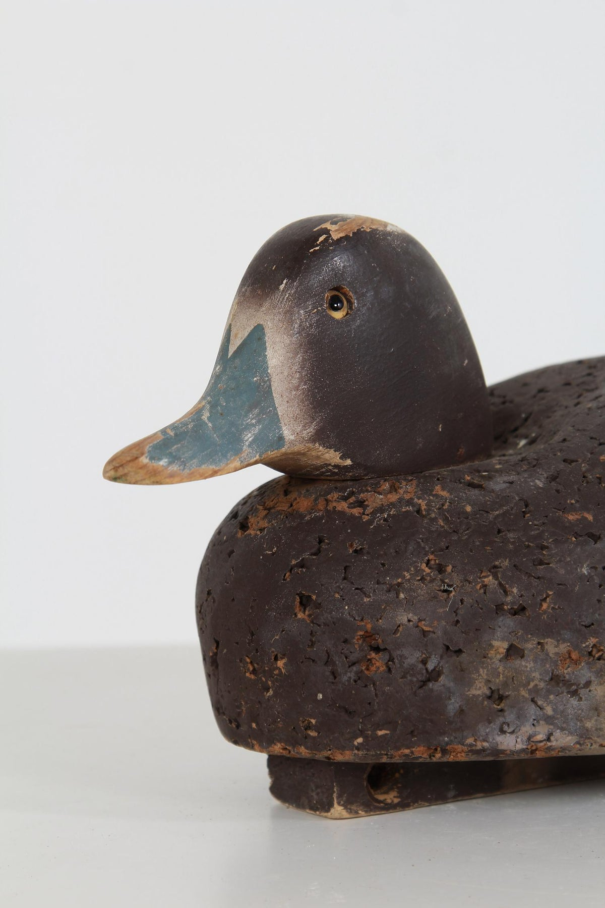 Original American Early 20thC  Folk Art Cork Decoy Duck