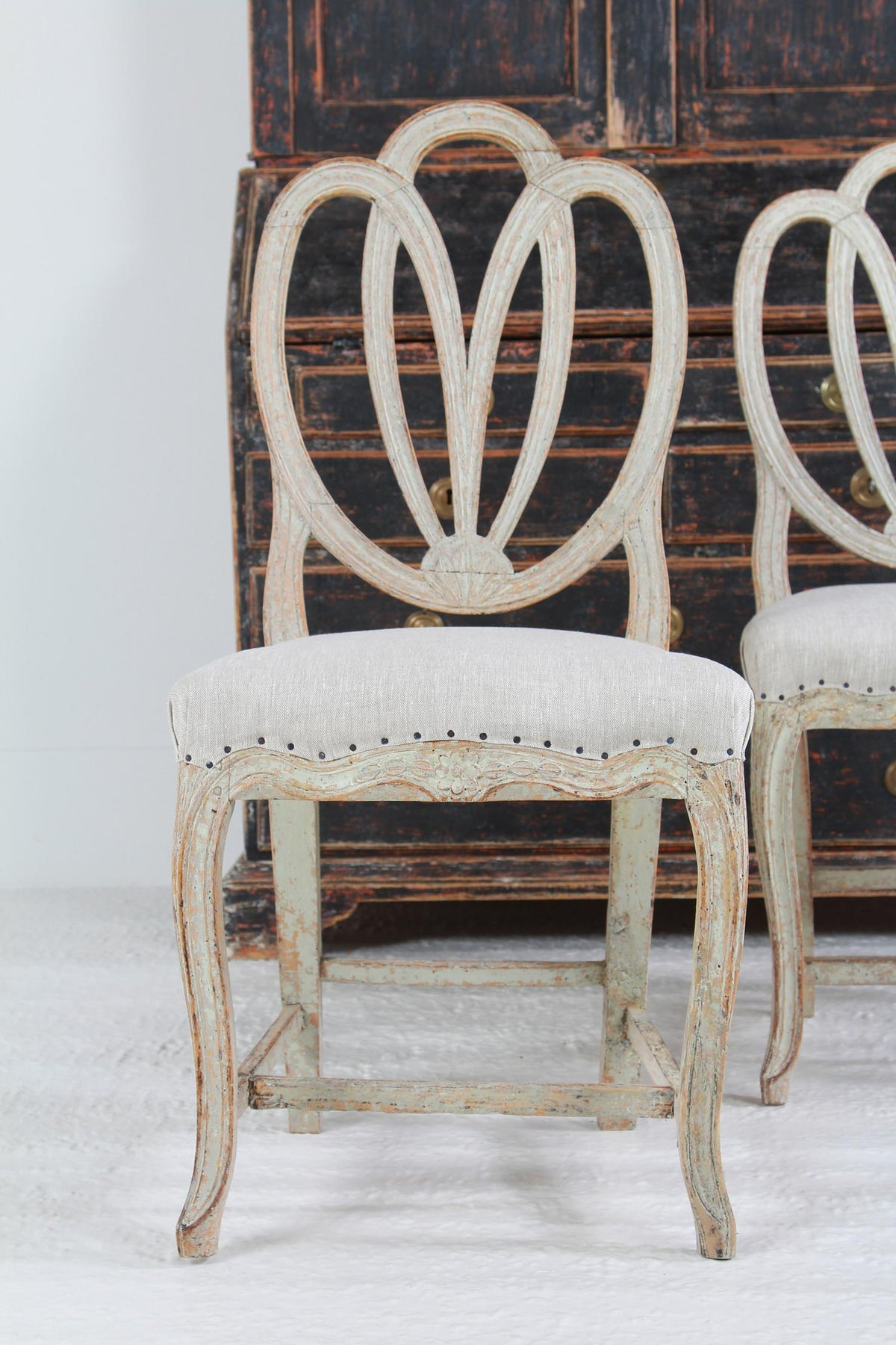 Beautiful Pair of Swedish Period Gustavian  18thC Lindome Chairs