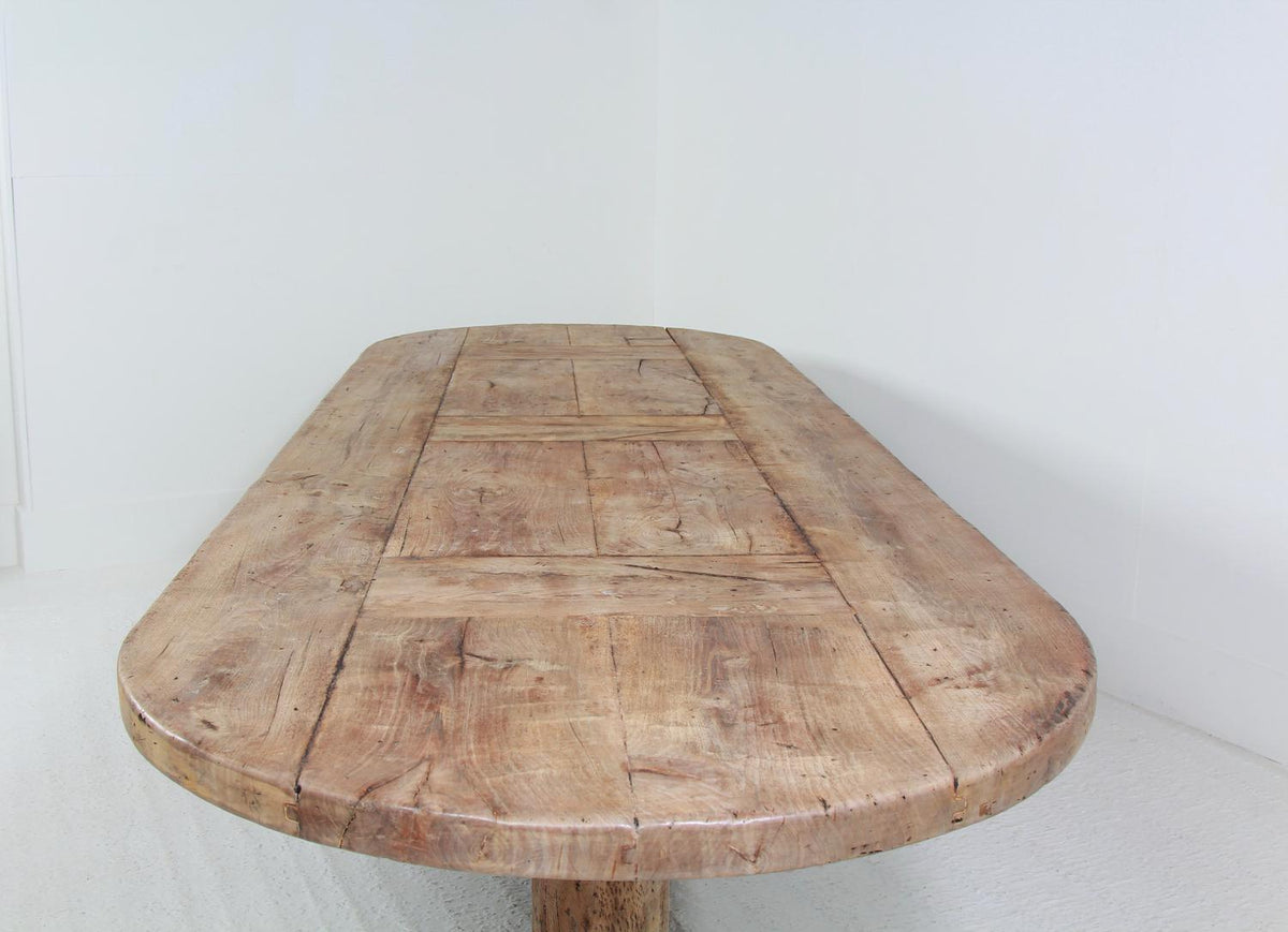Monumental French 19thC Oval Walnut Dining Table