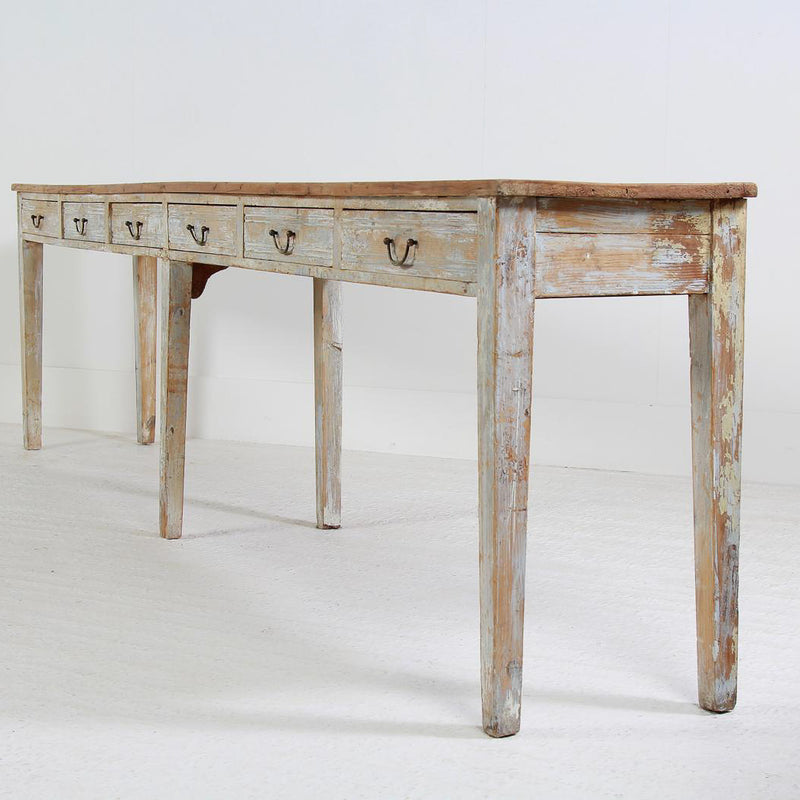 Huge French 19thC Painted Console/Server Table