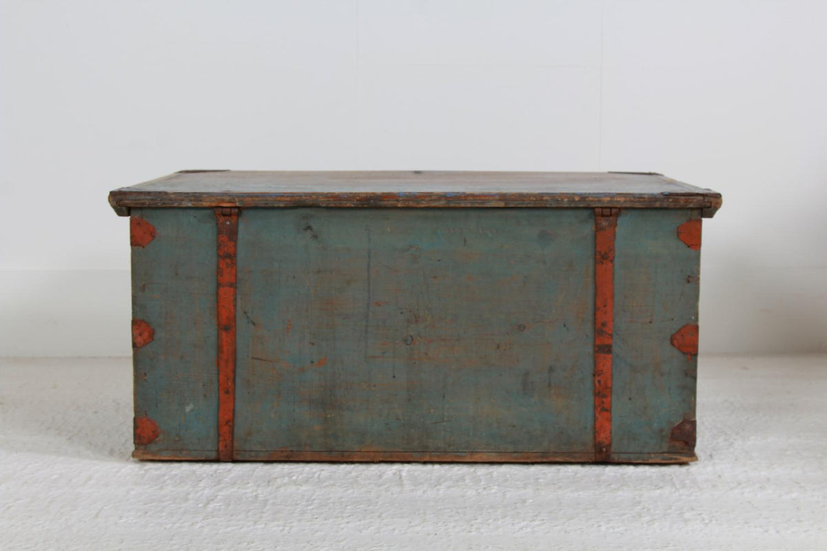 Original Swedish 19thC Marriage Chest Dated 1814