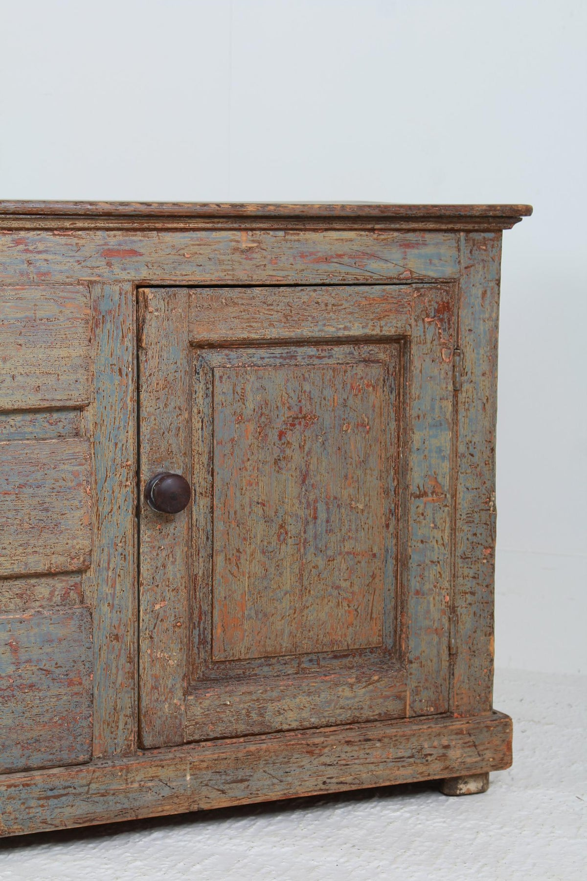 English Early 19thC West Country Painted Dresser Base
