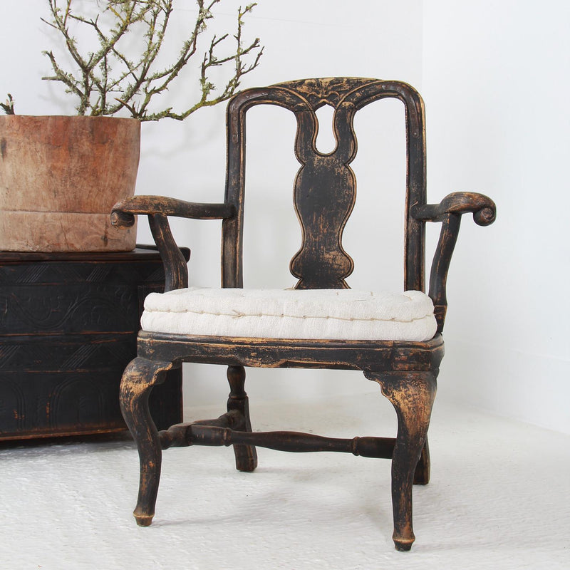 Striking Swedish Period  18thC Rococo Armchair