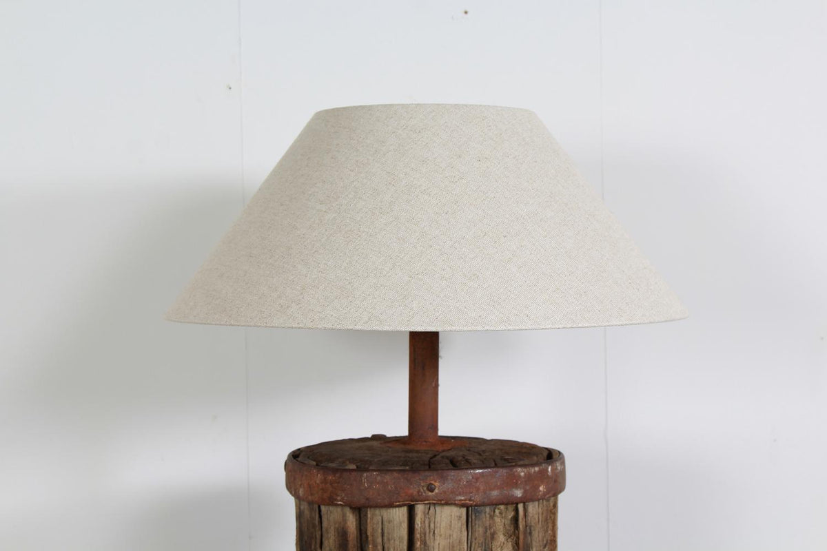 Magnificent  Rustic Oak Reclaimed Converted Table Lamp