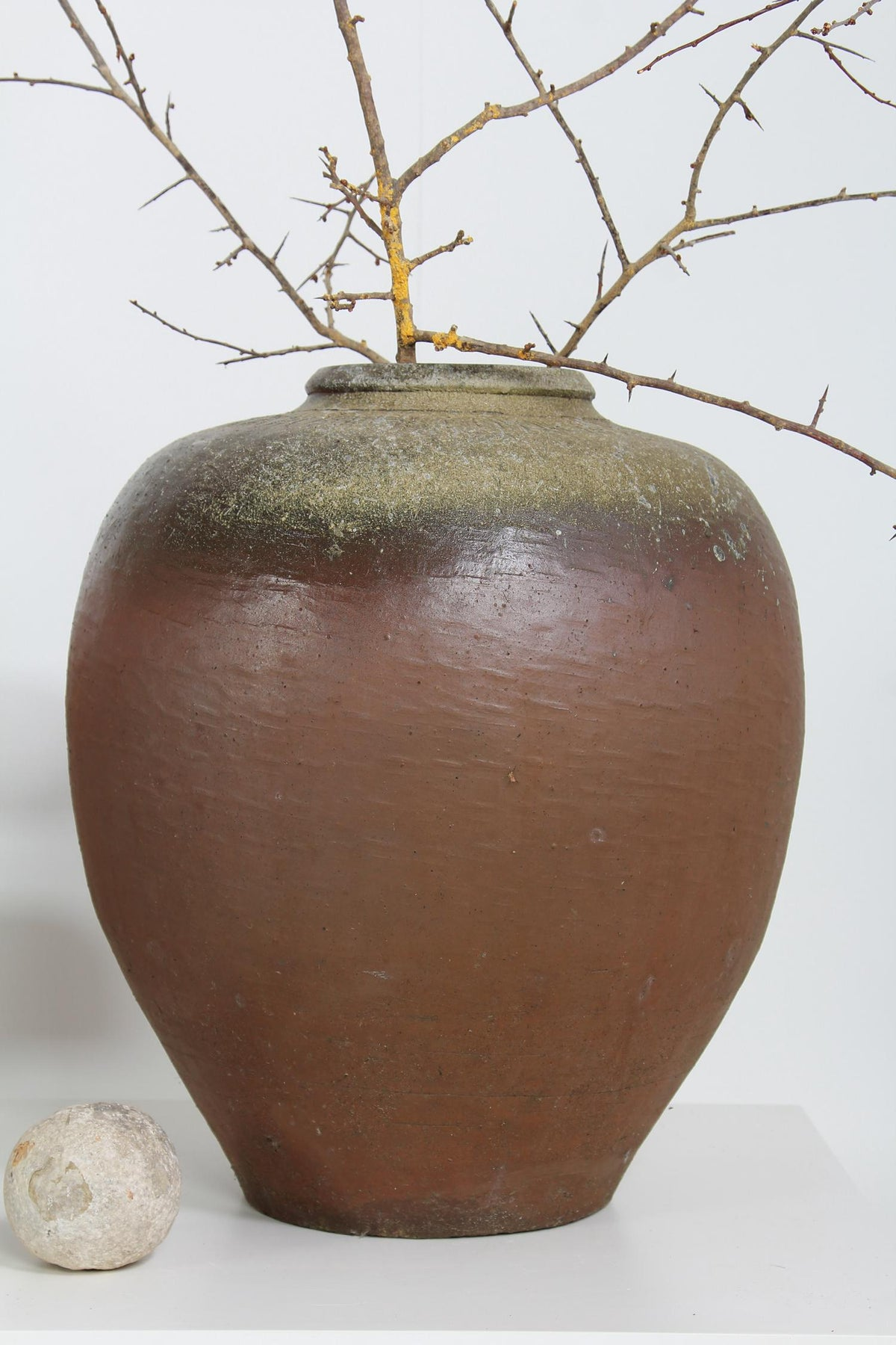 WABI-SABI CHINESE GLAZED  WINE STORAGE JAR