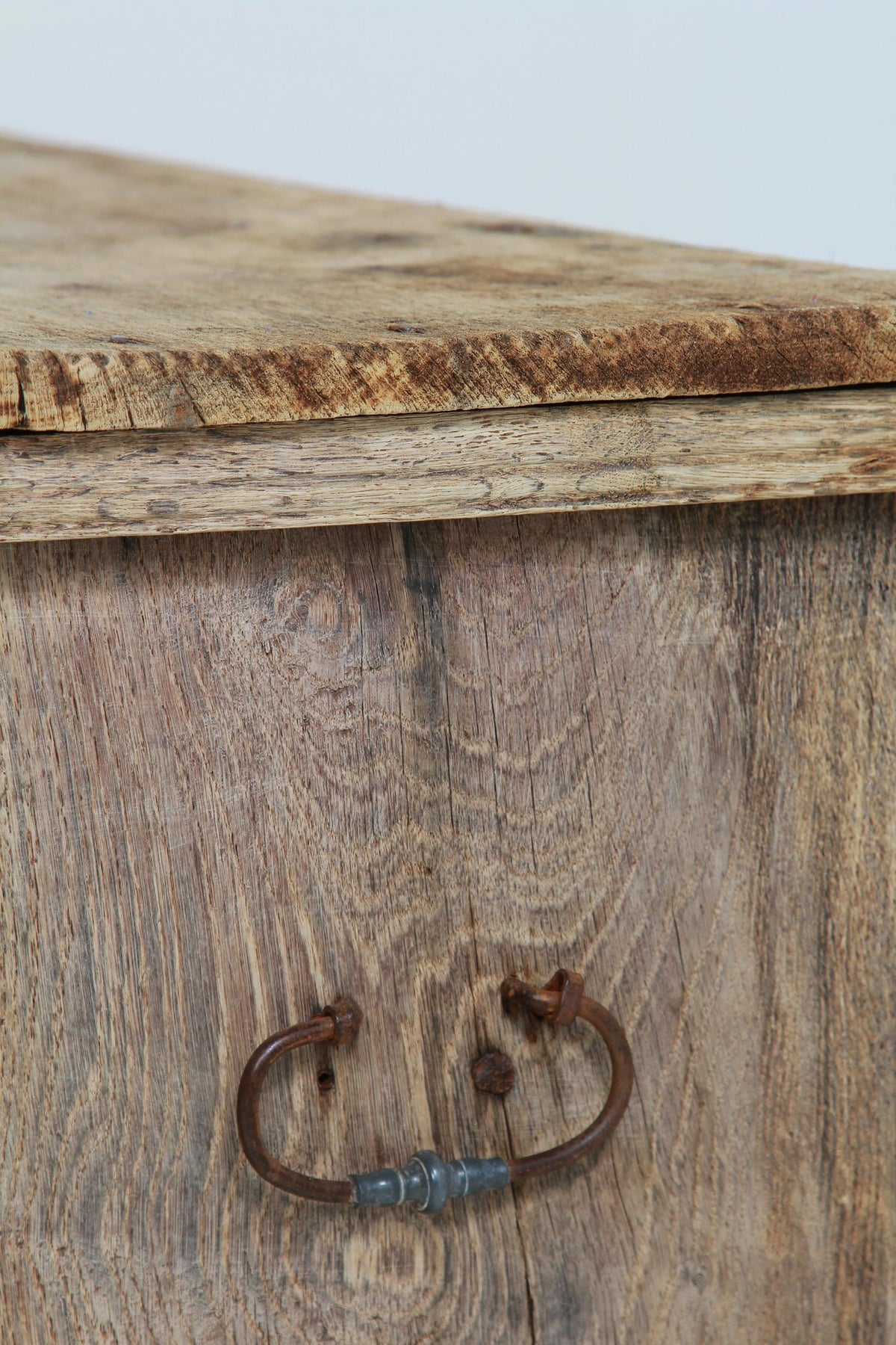 Ancient Bleached Oak Dutch 18thC Coffer