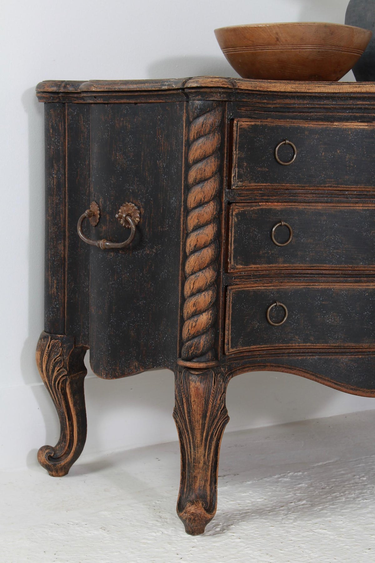 Huge  Sculptural Period Danish 18thC Rococo Commode