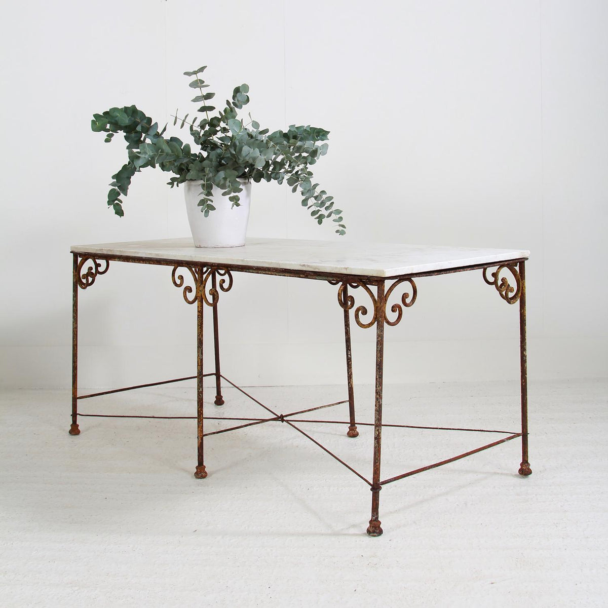 Elegant French 19thC  Marble Florist  Table
