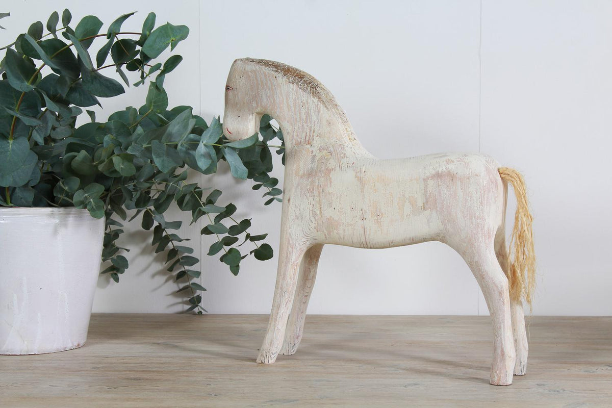 Primitive Painted 19thC  Swedish Horse