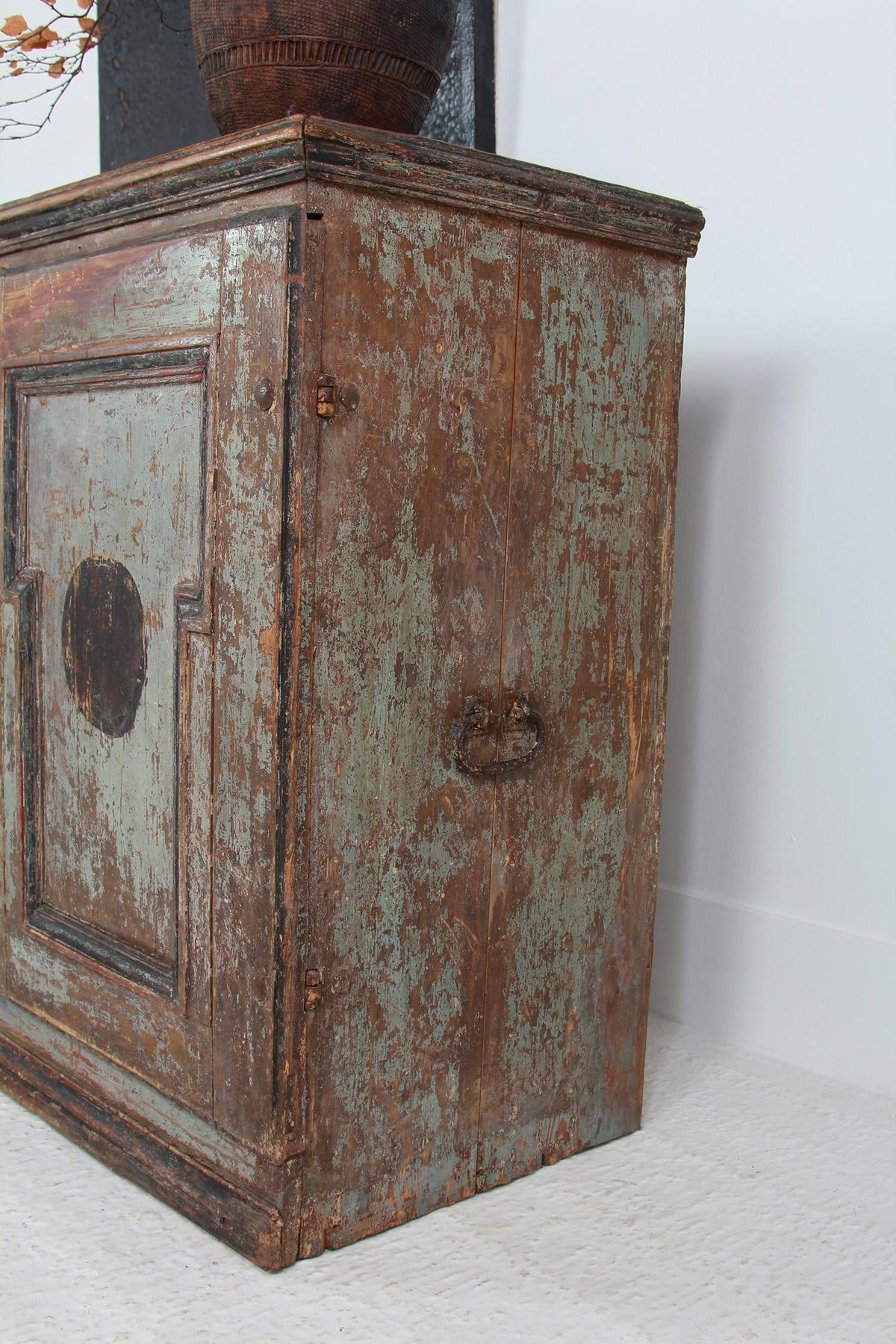 Exceptional Grand Scale Swedish 18thC Original  Painted Buffet
