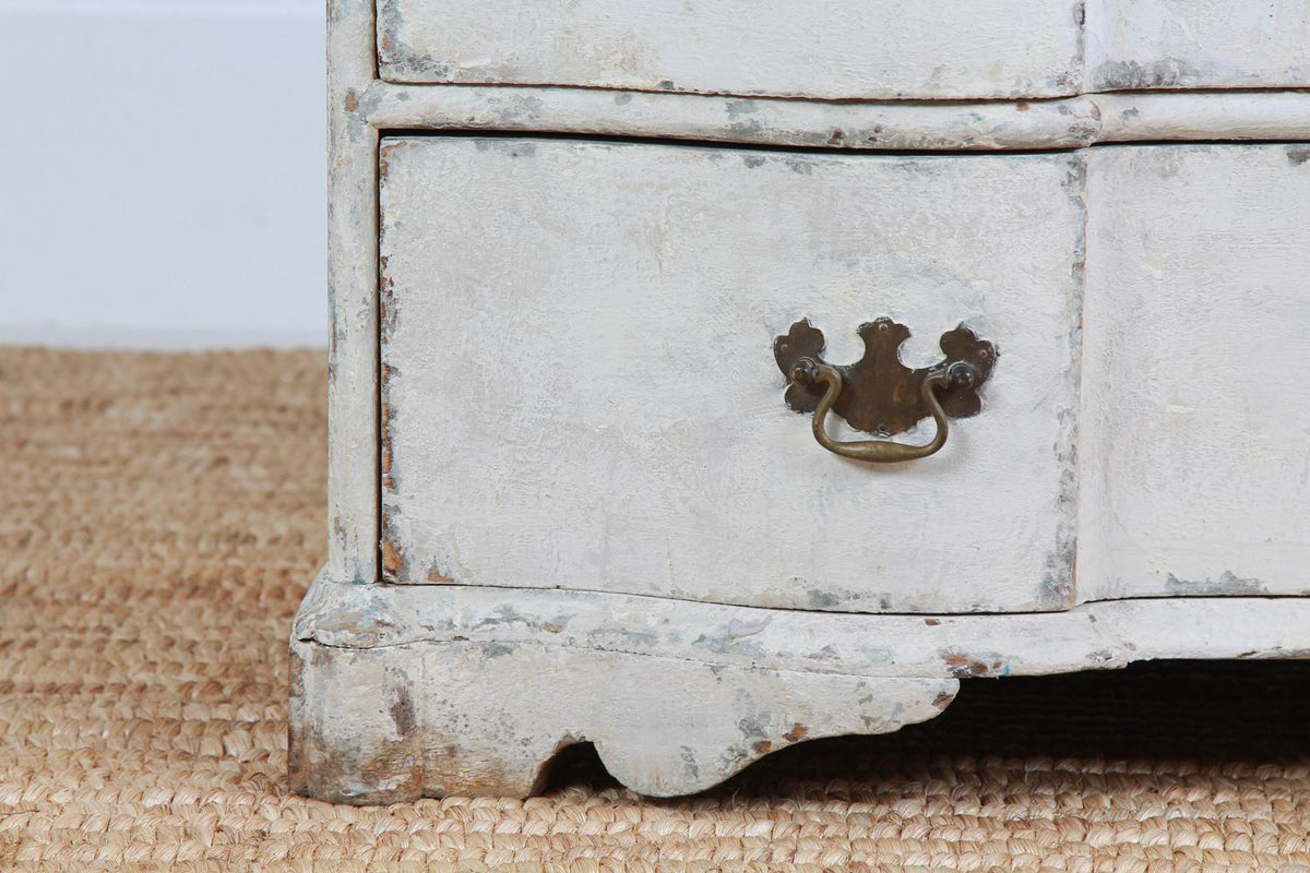 French 18th Century Painted Breakfront Three-Drawer Commode