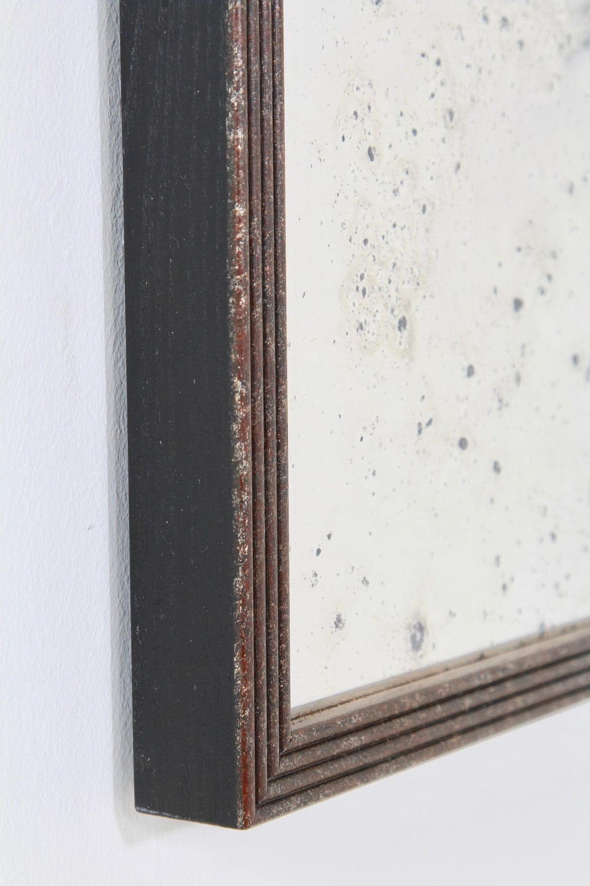 Framed Hand Silvered Antiqued Panelled Foxed Mirror