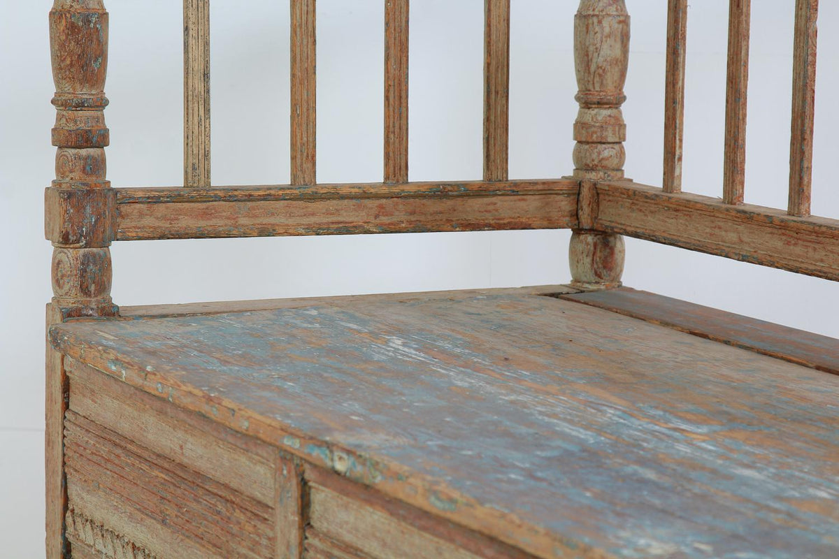 Swedish 18thC Period Gustavian Sofa Bench