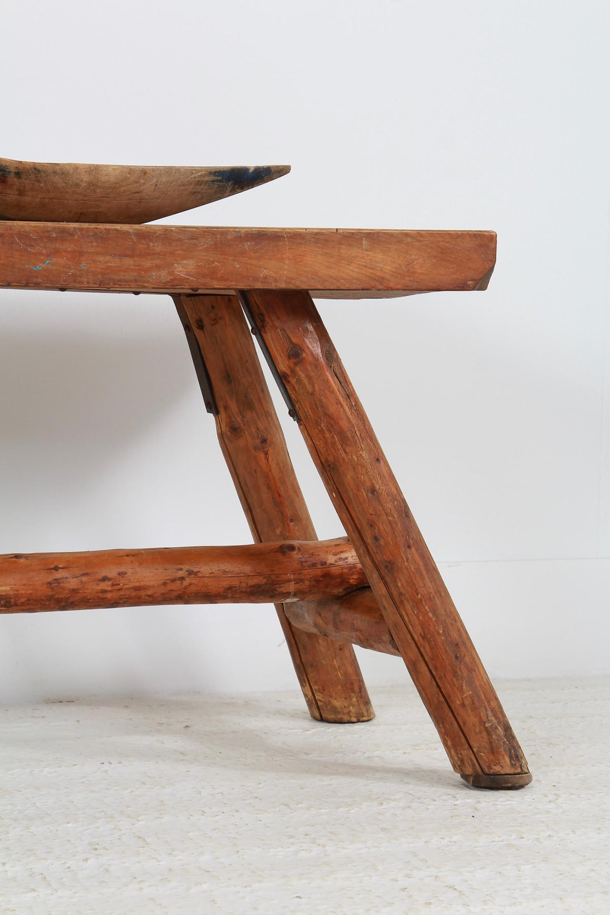 Rustic French 20thC Primitive Console Table