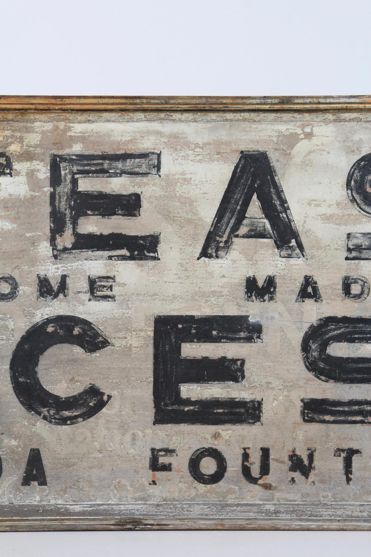 A Delicious English Roadside Shop Sign in Original Paint