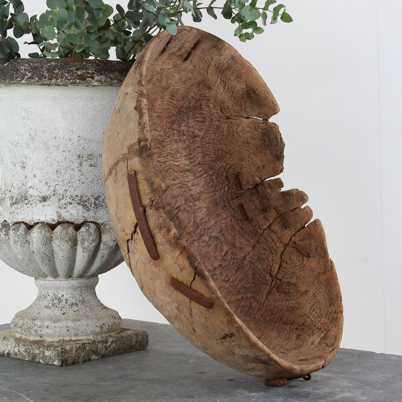 Spectacular Hand Carved Swedish 18thC Root Bowl