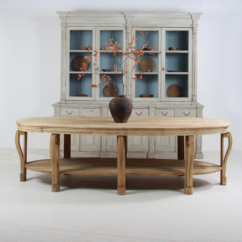 Magnificent French Oval  19thC Oak Draper/Centre Table